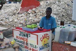 Ti John, refugee in a camp for victims of the earthquake in Haiti